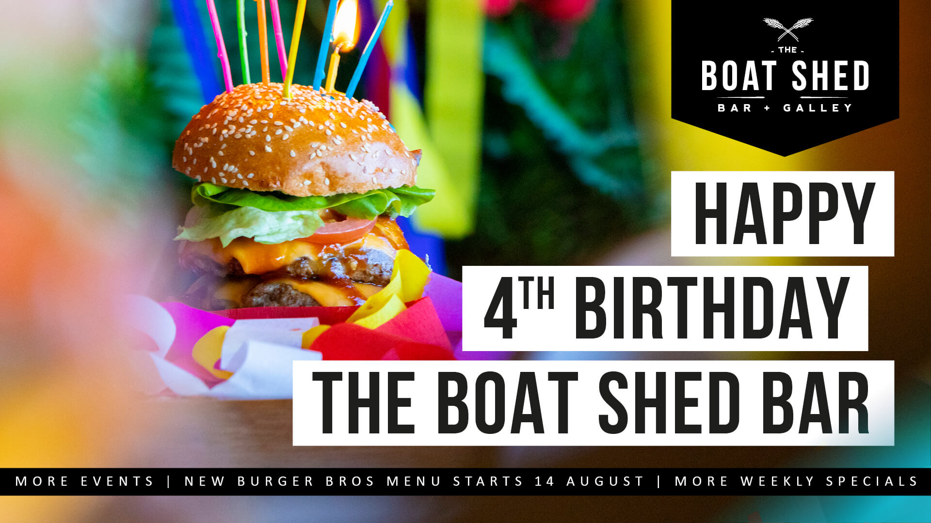 Happy 4th Birthday The Boat Shed Bar! What's new?